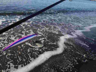 三浦半島の朝マズメのサーフでヒラメ狙いは撃沈…。