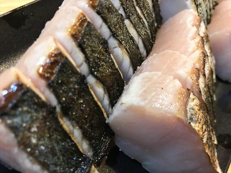 サワラのお寿司と炙り刺身!