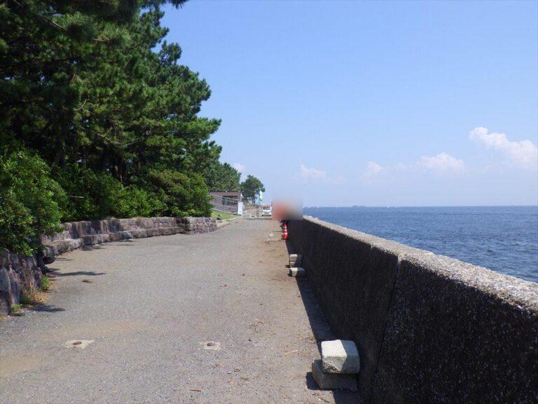 八景島対岸での釣りには要注意!護岸工事&駐禁取り締まり強化中!