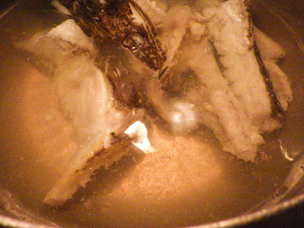 マゴチのあら汁の作り方